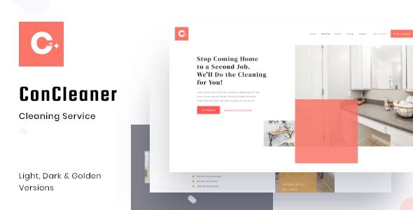 Con Cleaner - Professional Cleaning & Services HTML Template