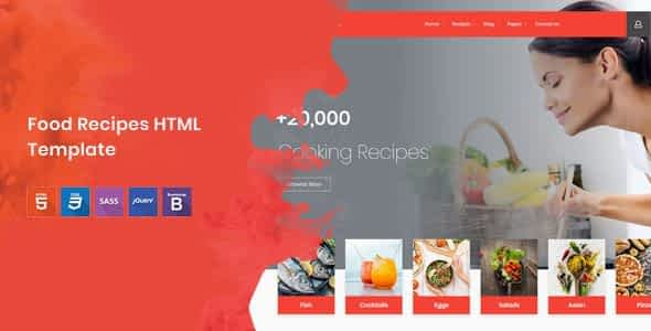 Cook Note - Food Recipes HTML Template