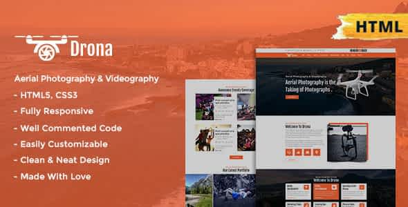 Drona   Aerial Photography & Video Html Template