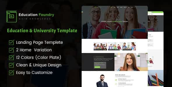 Education Foundry - Academy & Training Courses HTML5 Template