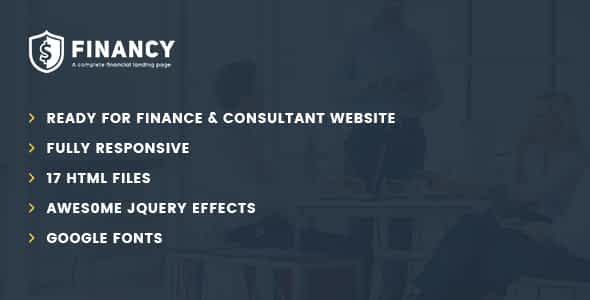 Financy - Consulting Business, Finance HTML5 Template