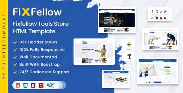 Fixfellow - Tools Store eCommerce HTML Template