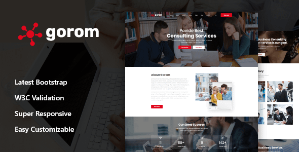 Gorom - Business & Consulting HTML5 Template