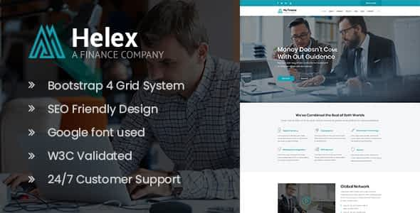 Helex - Investment and Finance HTML Site Template