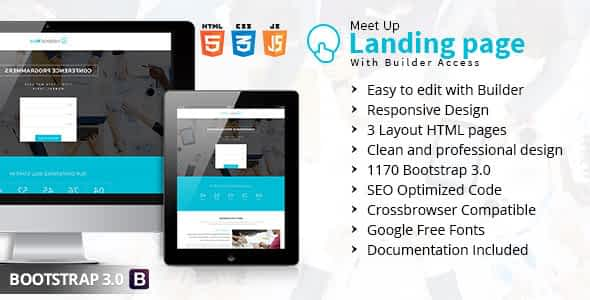 Meet Up Landing Page With Builder Access