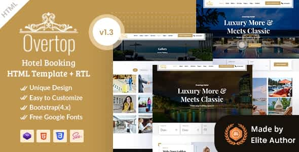 Overtop - Hotel & Accommodation Booking HTML Template