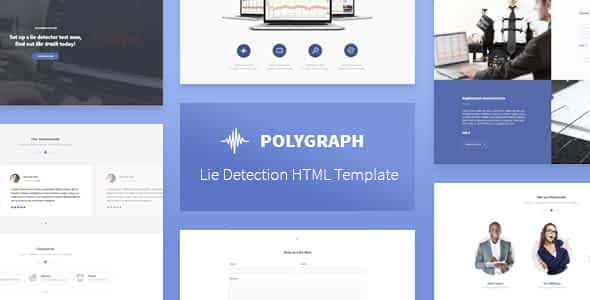 Polygraph - Lie Detection HTML Template