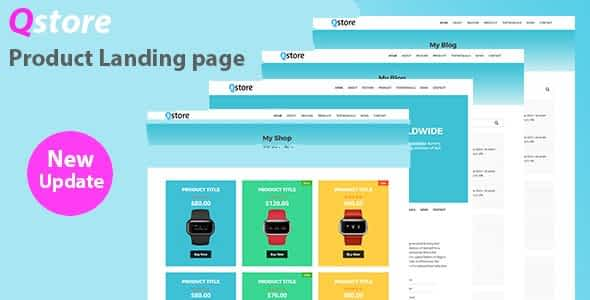 Qstore – Product HTML Landing Page