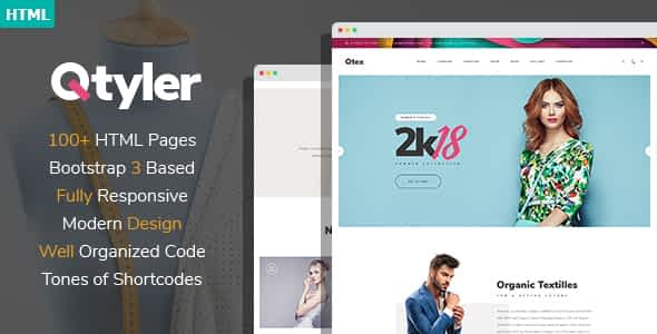 Qtyler - Fashion Brand And Clothing Manufacture HTML Template