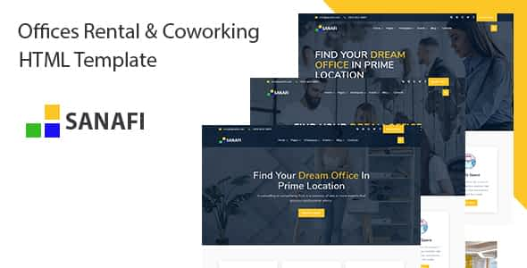 Sanafi - Coworking Space & Office Rental HTML Template