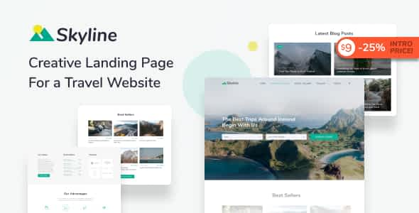 Skyline - Travel Agency HTML Landing Page Template
