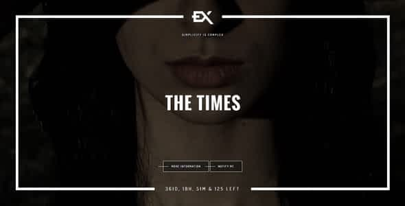 The Times    Responsive Coming Soon Page