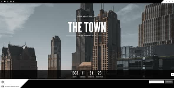 The Town    Responsive Coming Soon Page