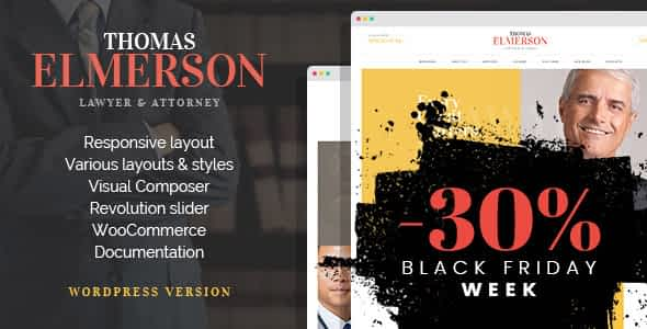 Thomas | Lawyer & Attorney WordPress Theme