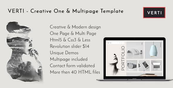 Verti - Creative OnePage & MultiPage Template