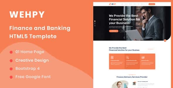 Wehpy - Multipurpose Finance and Banking HTML5 Template