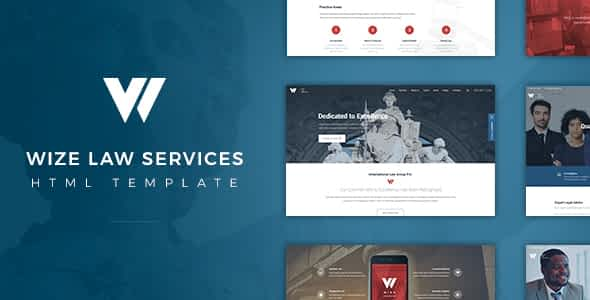 Wize Law - Lawyer and Attorney HTML