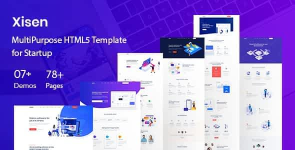 Xisen - Creative HTML5 Template for Saas, Startup & Agency