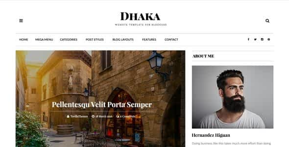 Dhaka - Responsive WordPress Blog Theme Nulled