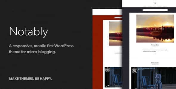 Notably - A WordPress Blogging Theme Nulled