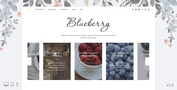 Blueberry - A Responsive WordPress Blog Theme Nulled