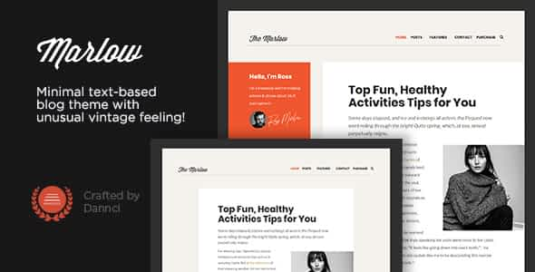Marlow - Distinctive, Typography-First WordPress Blog Theme Nulled