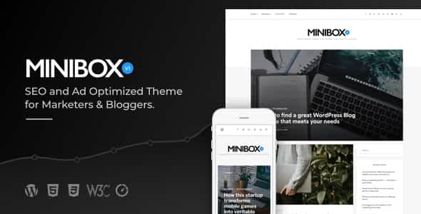 Minibox | Optimized WordPress Blog Theme for Bloggers and Ma... Nulled