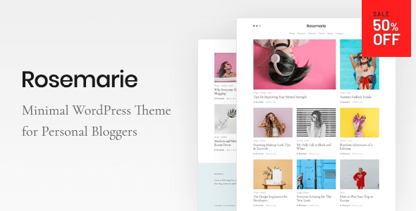 Rosemarie - Personal WordPress Blog Theme Nulled