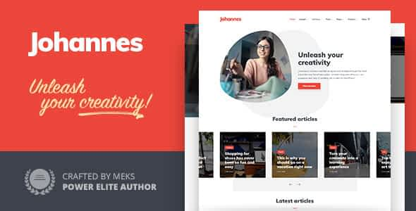 Johannes - Personal Blog Theme for WordPress Nulled