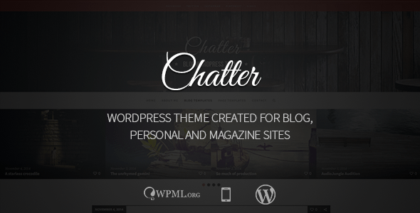 Chatter - Responsive WordPress Blog Theme Nulled