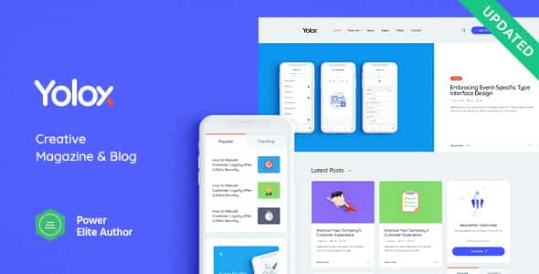 Yolox | Modern WordPress Blog Theme for Business & Startup Nulled