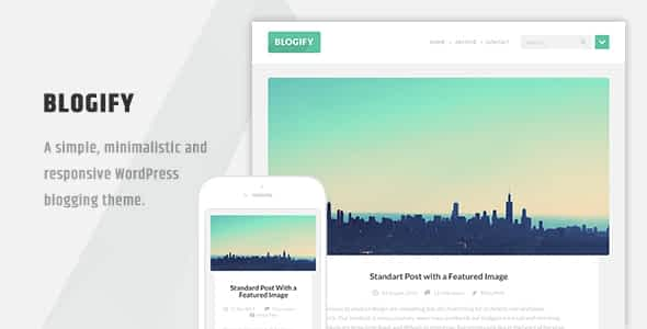 Blogify - Flat Responsive WordPress Blog Theme Nulled