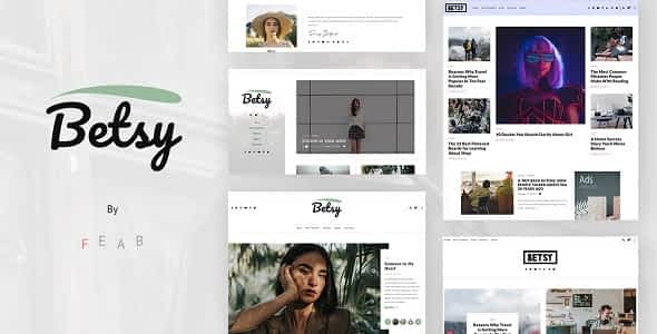 Betsy - A Clean WordPress Blog Theme Nulled