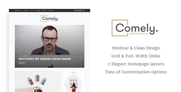 Comely - Responsive WordPress Blog Theme Nulled
