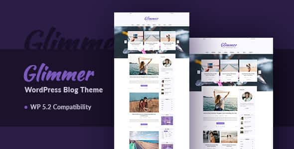 Glimmer - A Responsive WordPress Blog Theme Nulled