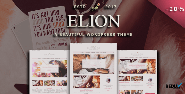 Elion - Personal WordPress Blog Theme Nulled