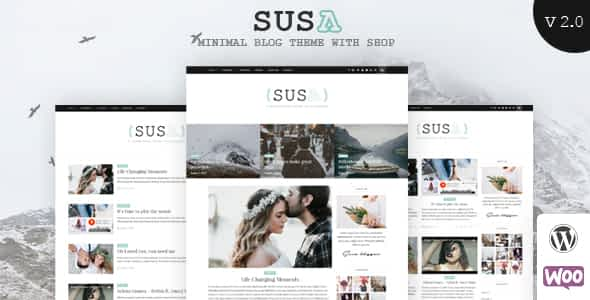 Susa - Responsive WordPress Blog Theme Nulled
