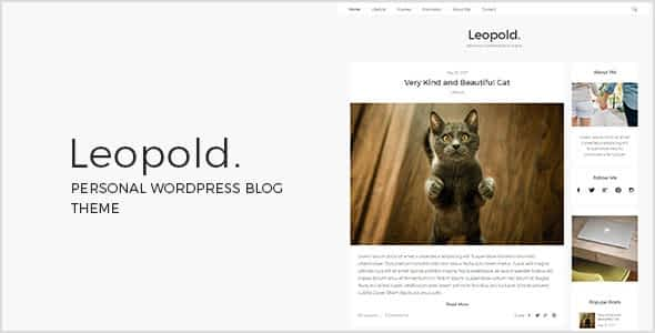 Leopold - Personal WordPress Blog Theme Nulled