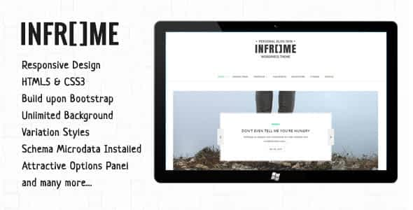 Inframe - Personal WordPress Blog Theme Nulled