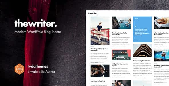 The Writer - Modern WordPress Blog Theme Nulled