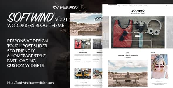 SoftWind - SEO Friendly WordPress Blog Theme Nulled