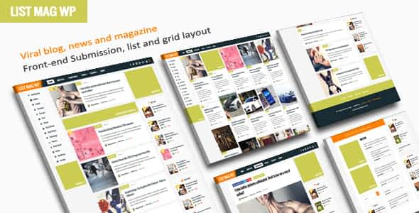 List Mag WP - A Responsive WordPress Blog Theme Nulled