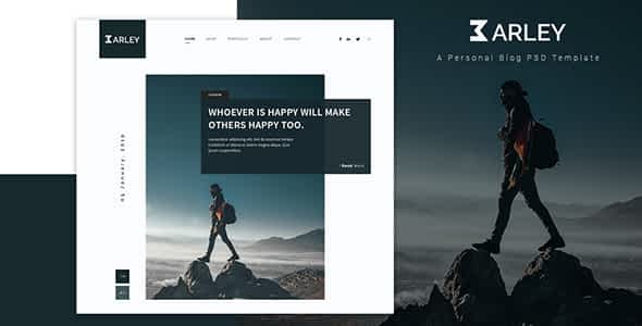 Barley - Creative Personal WordPress Blog Theme Nulled