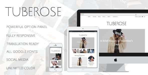 Tuberose - Smart Personal WordPress Blog Theme Nulled