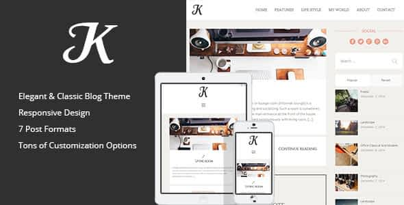 K-Theme - A Responsive WordPress Blog Theme Nulled