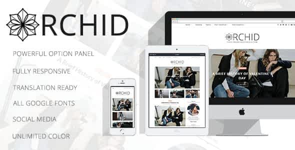 Orchid - A Clean Personal WordPress Blog Theme Nulled