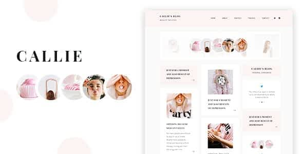 Callie - A Story WordPress Blog Theme Nulled