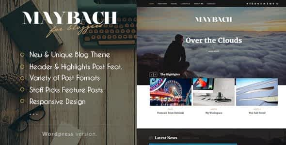 Maybach - A Responsive WordPress Blog Theme Nulled