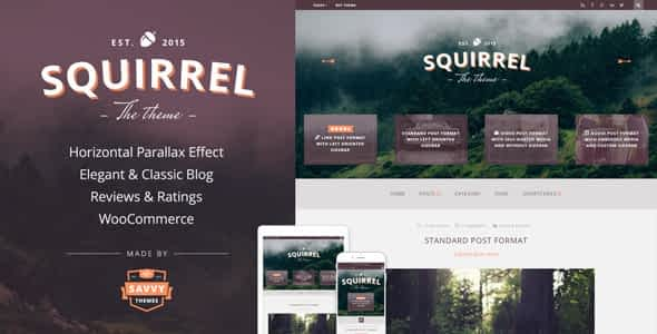 Squirrel - A Responsive WordPress Blog Theme Nulled