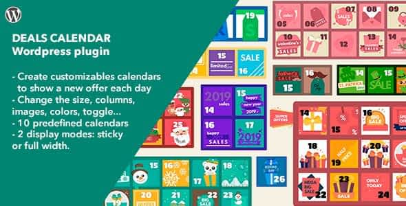 Deals Calendar - WordPress Plugin